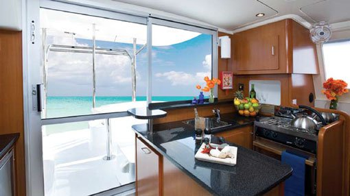 Up to 28 persons can enjoy a ride on this Catamaran boat