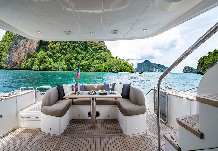 Discover Phuket surroundings on this 60 MY Princess boat