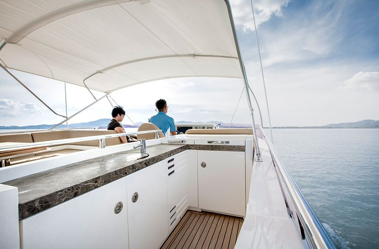 Discover Phuket surroundings on this 78MY PRINCESS boat