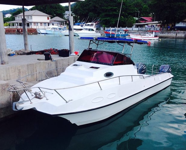 Hop aboard this amazing catamaran rental in Seychelles!