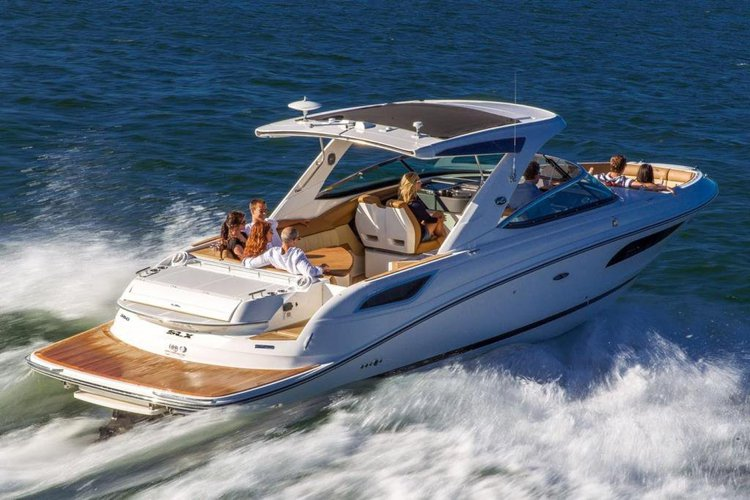 Discover puerto vallarta surroundings on this SLX350 SEARAY boat