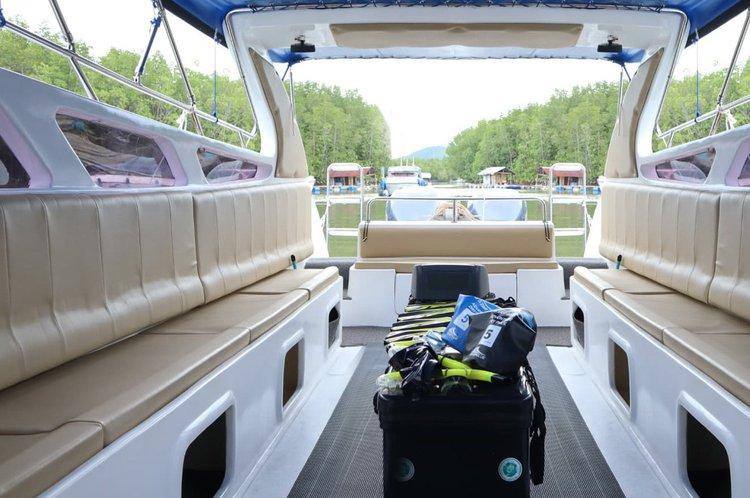 Motor yacht boat rental in Royal Phuket Marina, Thailand