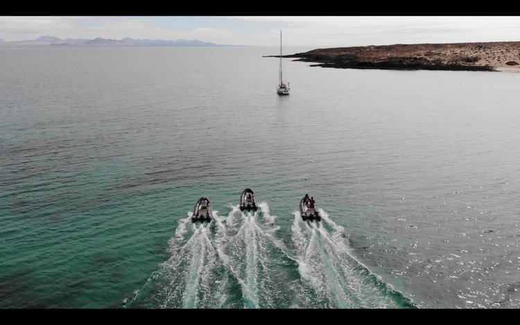 Boating is fun with a Rigid inflatable in Lanzarote