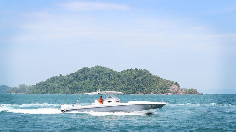 Relax on board our motor boat charter in Phuket