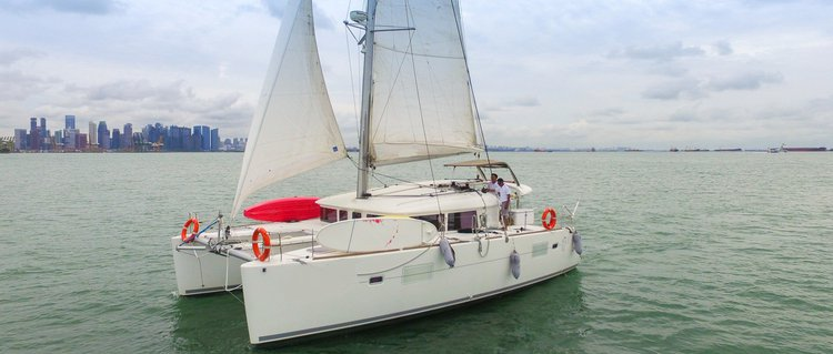 Up to 18 persons can enjoy a ride on this Catamaran boat
