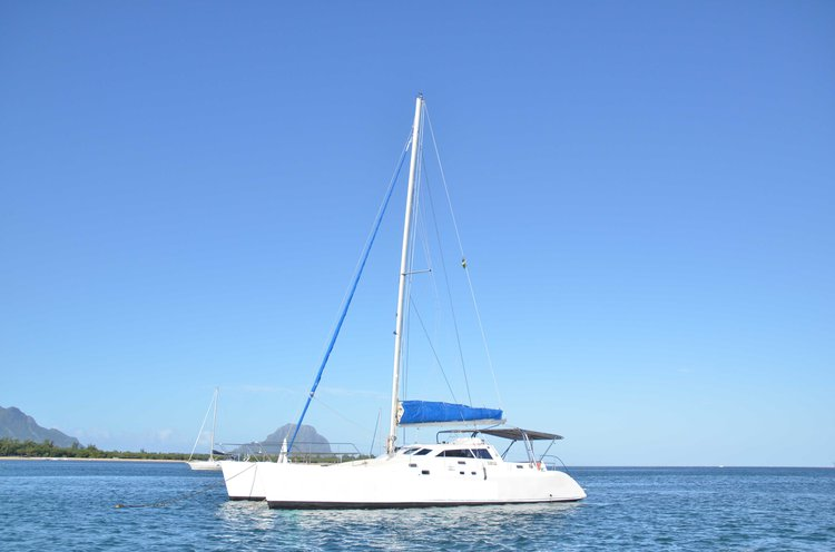 Catamaran boat for rent in Trou D'Eau Douce