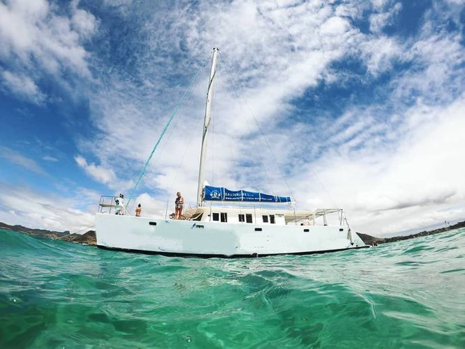 Up to 36 persons can enjoy a ride on this Catamaran boat