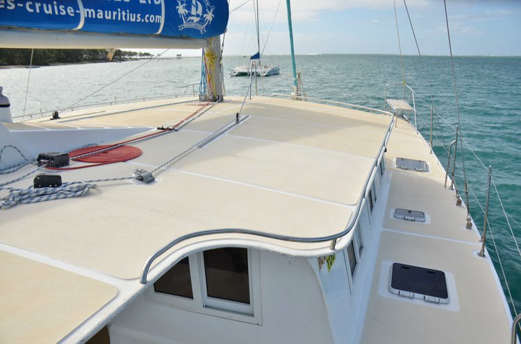 Catamaran boat for rent in Trou D'Eau Douce