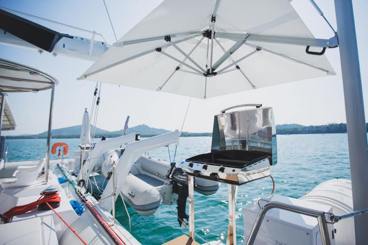 Up to 98 persons can enjoy a ride on this Catamaran boat