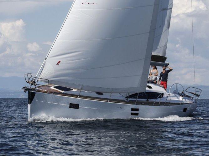 Sail the beautiful waters of Pirovac on this cozy Elan Elan 45 Impression - 4 cabin version