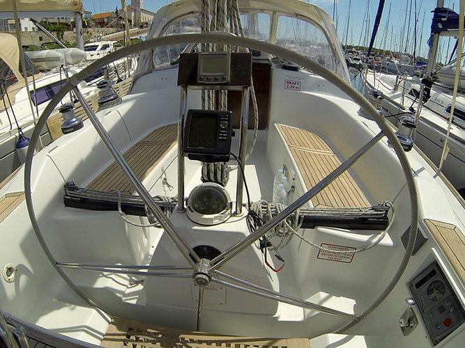 GPS plotter in cockpit