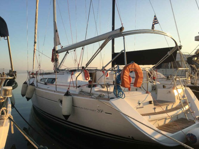 Enjoy Lefkada, GR to the fullest on our comfortable Jeanneau Sun Odyssey 39i
