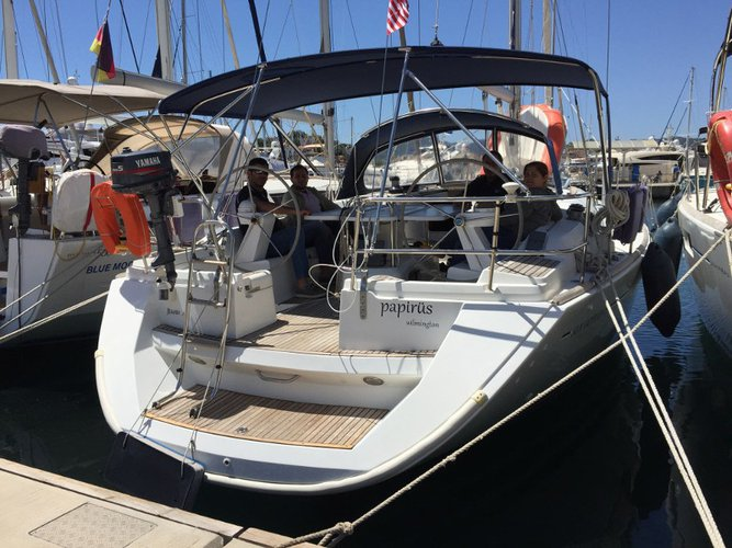 Sail the beautiful waters of  on this cozy Jeanneau Sun Odyssey 45