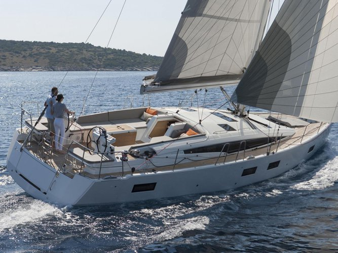Experience Skiathos, GR on board this amazing Jeanneau Jeanneau 54