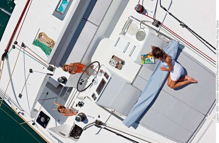 Catamaran boat rental in Kepple Bay, Singapore