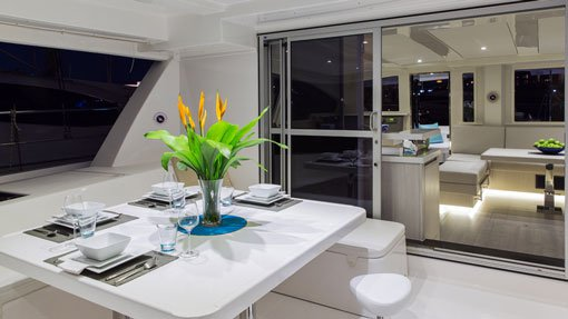Up to 33 persons can enjoy a ride on this Catamaran boat