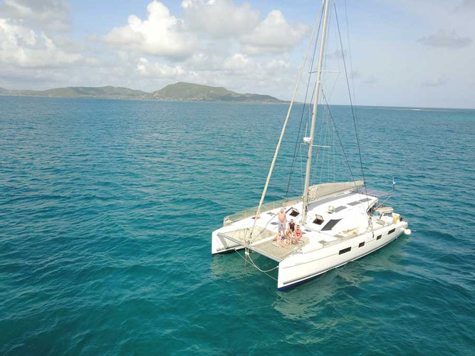 Discover Cartagena surroundings on this 48 Nautitech boat