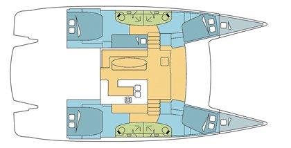 This 48.0' Salina 48 evolution cand take up to 12 passengers around Nassau