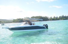 Hop aboard this amazing motor boat rental in Mauritius.