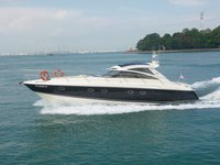 Climb aboard this stunning motor boat rental in Singapore