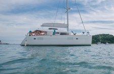 Go on a nautical adventure on this elegant sailing catamaran
