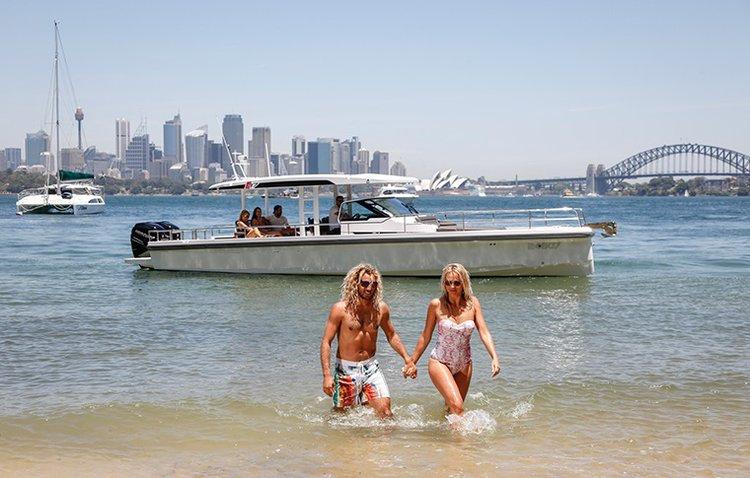 Center console boat rental in Sydney, Australia