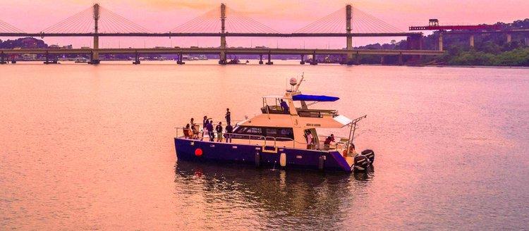 Boating is fun with a Catamaran in Panjim