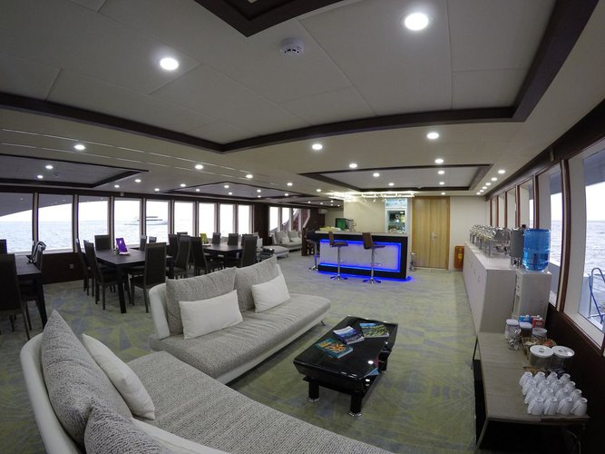 Up to 26 persons can enjoy a ride on this Motor yacht boat