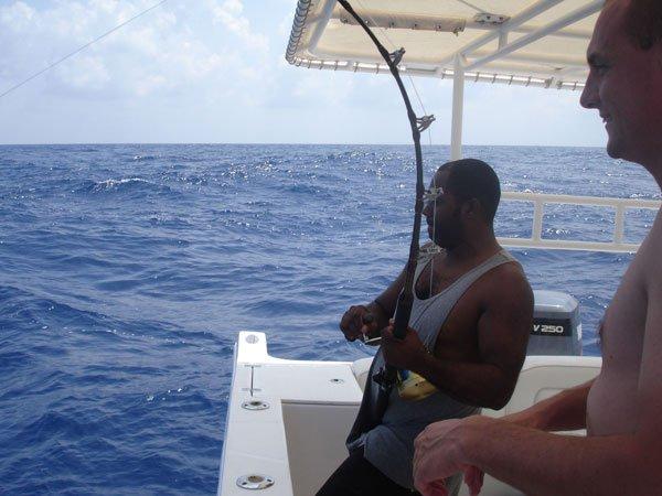 Center console boat for rent in Zanzibar
