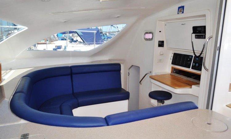 Catamaran boat for rent in Zanzibar
