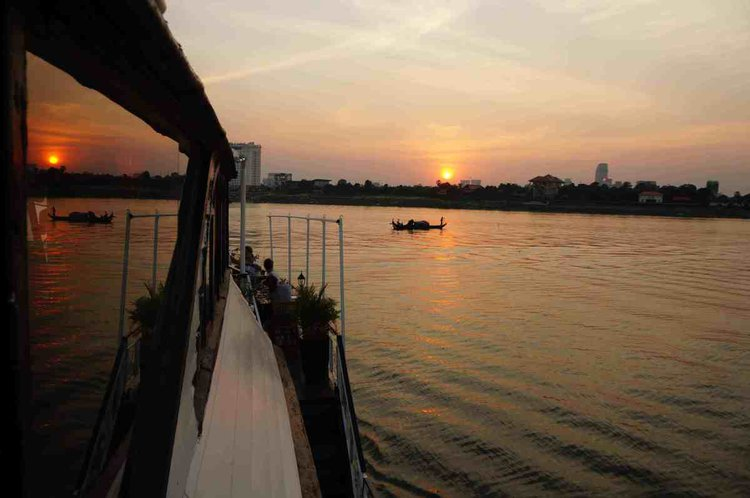 Experience Phnom Penh. on board this elegant meg yacht boat