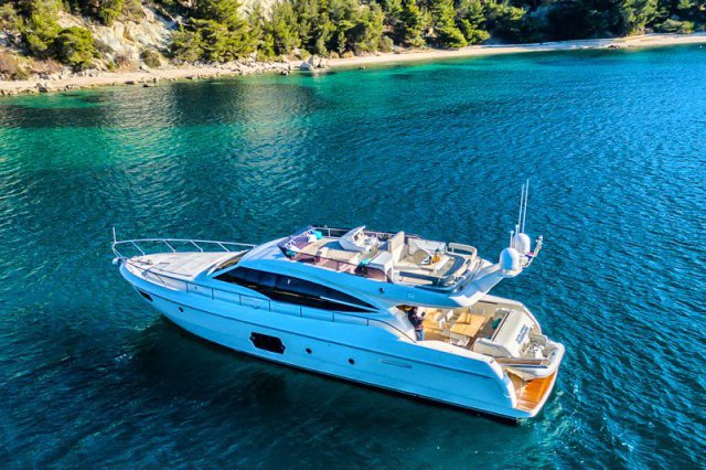 Enjoy cruising in Croatia aboard this beauty Ferretti 620