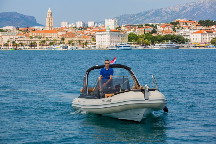 Discover Split surroundings on this Shark BF 23 Grginic Yachts boat