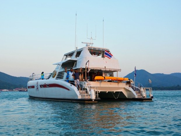 Up to 30 persons can enjoy a ride on this Catamaran boat