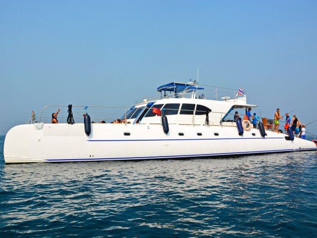 Take this awesome catamaran for a spin