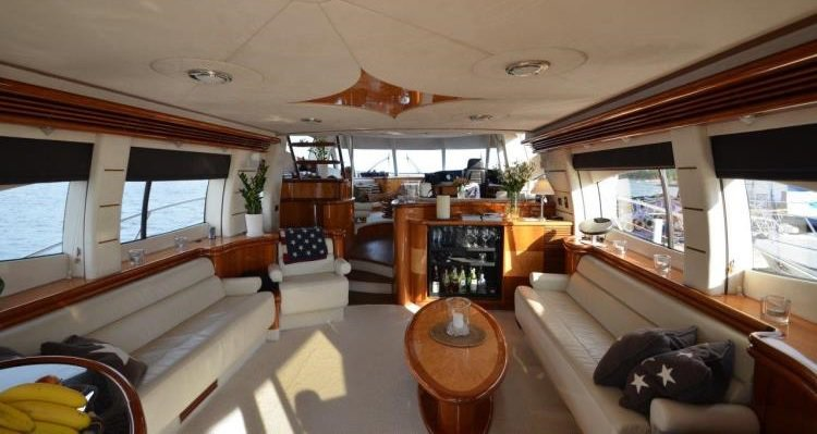 Up to 48 persons can enjoy a ride on this Sunseeker boat
