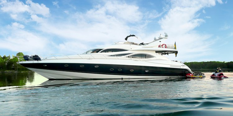 This motor yacht boat rental is perfect to enjoy  Stockholm