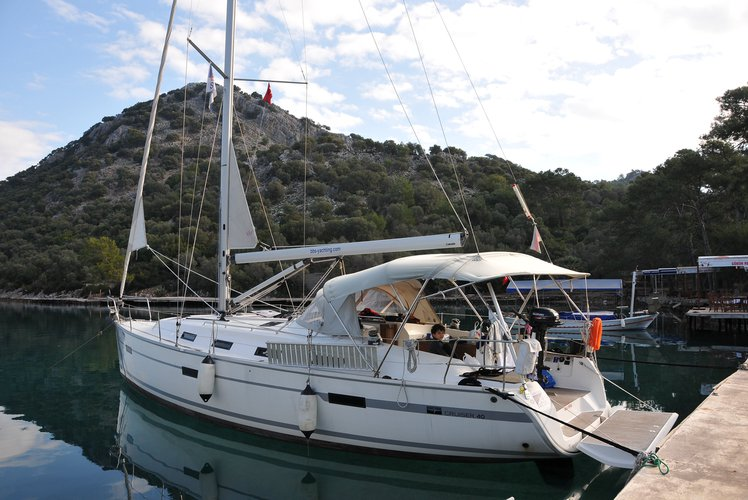 This 41.0' BAVARIA cand take up to 6 passengers around Fethiye