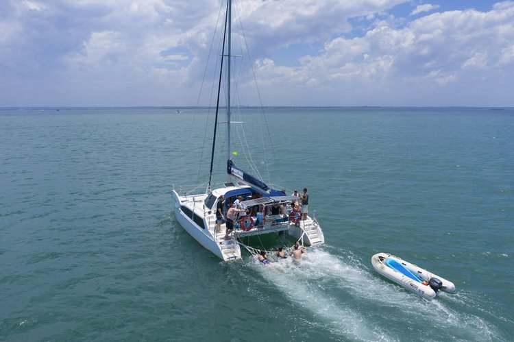 Catamaran boat for rent in West Cleveland