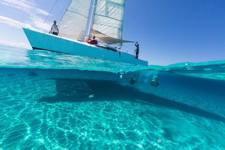 Catamaran boat rental in Denarau Island, Fiji