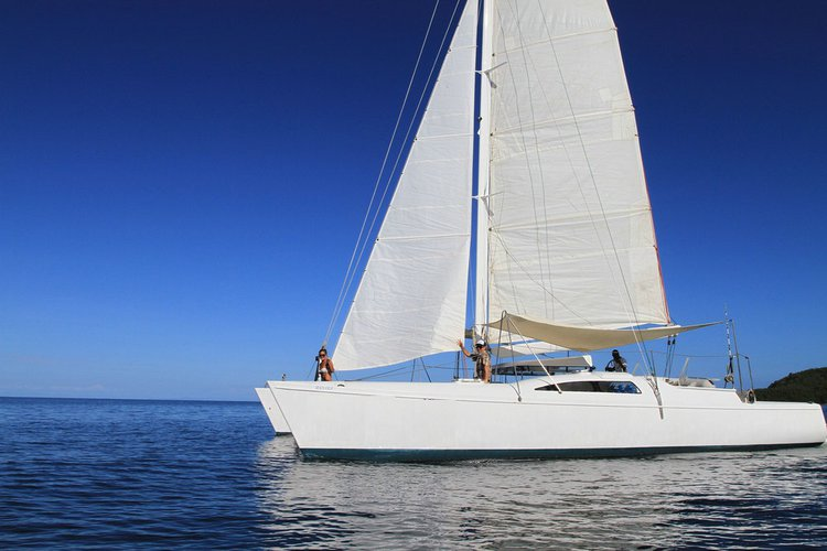 Have fun in the sun on this Denarau catamaran charter