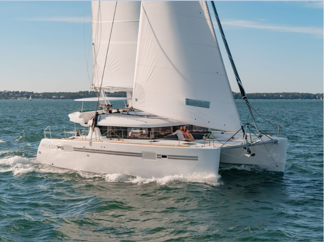 Hop aboard this amazing catamaran rental in Tanzania!