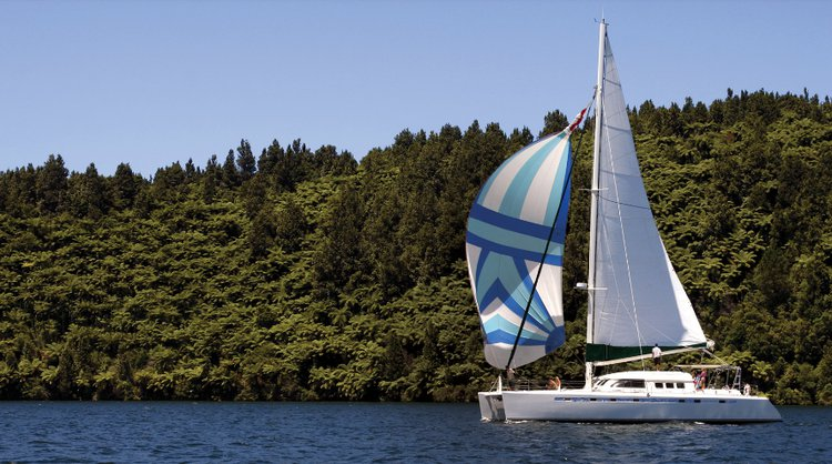Catamaran boat for rent in Rotorua
