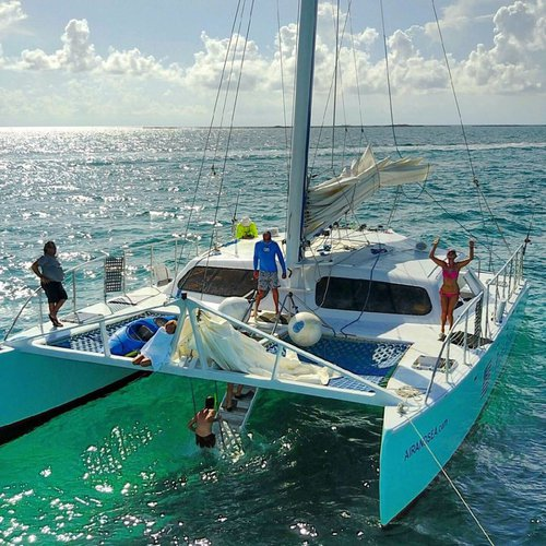 Catamaran boat for rent in Deerfield Beach