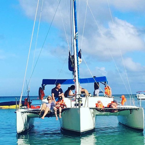 Hop aboard this amazing catamaran rental in Rivière du Rempart!
