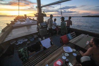 Discover Padang surroundings on this Custom Custom boat