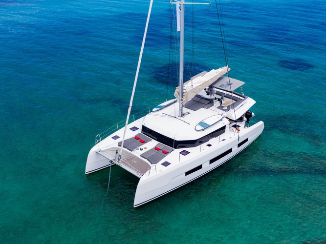 Experience Lefkada, GR on board this amazing Dufour Yachts Dufour 48 Catamaran