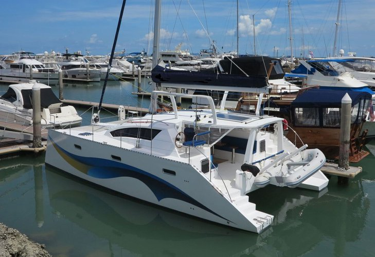 Go on a nautical adventure on this elegant catamaran