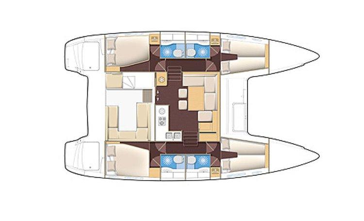 Catamaran boat rental in Samui Base, Thailand