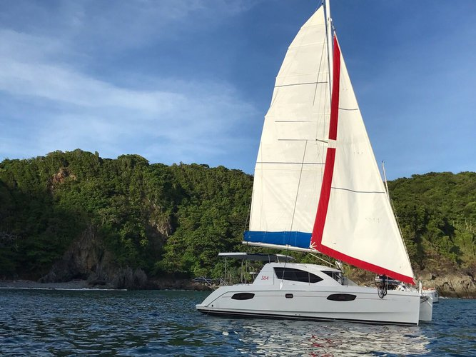 Discover Bangkok in style boating on this catamaran rental